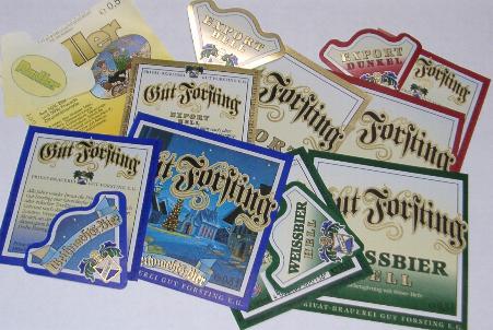 Bieretiketten SÜDDEUTSCHLAND 300 Bieretiketten SÜDDEUTSCHLAND-TOUR 2003